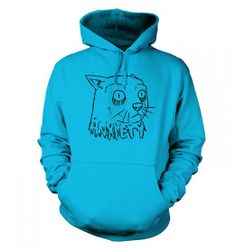 Anxiety Cat Hoodie - Internet Memes Geeky Nerdy Tshirt at Amazon Men's Clothing store