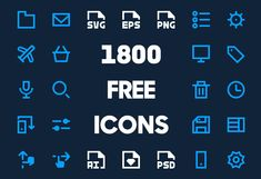 1800 Free Vector Icons for Web, iOS and Android UI Design #vectoricons #freeicons #freebie #psdicons #svgicons #webicons