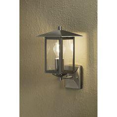 Konstsmide Sorrento Single Light Outdoor Wall Light in Stainless Steel