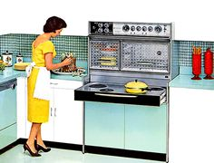 1962 Frigidaire Flair Electric Range with pull out surface units! We had one growing up...