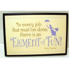 Hallmark Disney Collection DYG9632 Mary Poppins Element Of Fun Plaque