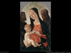 martini francesco di giorgio Madonna con bambino e due santi Madonna, Martini, Painting, Art, Painting Art, Paintings, Painted Canvas, Martinis