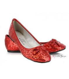 Red Glitter Mila Ballet Flats - Ellie Shoes