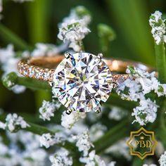 14K Rose Gold The Elegant Engagement Ring with Moissanite
