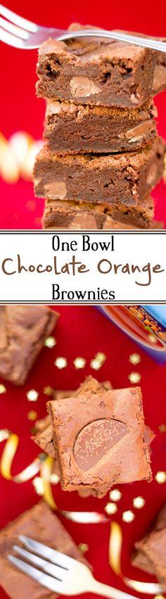 Creamy chocolate brownies with orange zest!
