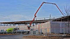 Wichita Library; cement is pumped through pipes to create the 2nd floor surface.  Jan 9, 2017