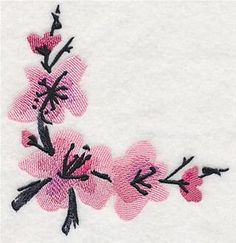 Japanese Embroidery Designs Machine Embroidery Designs at Embroidery Library! Sashiko Embroidery, Japanese Embroidery, Applique Embroidery Designs, Free Machine Embroidery Designs, Panda Quilt, Sewing Appliques, Hand Applique, Embroidery Techniques, Couture