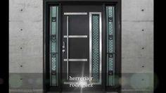 puertas modernas exteriores hierro madera y crital - Buscar con Google