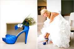 Peacock Wedding Shoes!!!