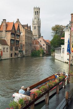 Bruges, Belgium - where Time stands still, Silence gently wipes the pandemonium in the mind off its slate and dried Autumn leafs rustle, side and pause in concord with the city's soughs...