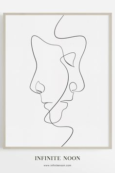 The Clone - Single line face illustration wall art, modern and minimal artwork,. - The Clone – Single line face illustration wall art, modern and minimal artwork, black line drawi - Doodle Drawing, Drawing Sketches, Art Drawings, Pencil Drawings, Minimal Drawings, Modern Drawing, Wall Drawing, Drawing Ideas, Face Line Drawing