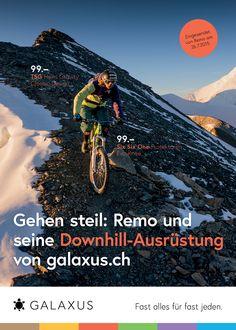 Gehen steil: Remo und seine Downhill-Ausrüstung von galaxus.ch. #GalaxusLive #Galaxusw