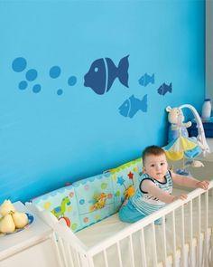 A cute theme for a nursery: Ocean Blue!