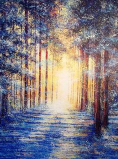 ARTFINDER: Winter's Light by Marc Todd - Created on, and shipped on a pre-stretched canvas...ready to hang unframed if preferred.