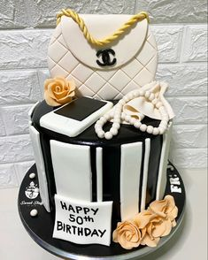 Chanel Inspired Birthday Cake Girls, Girl Cakes, Fondant, Chanel, Inspired, Sweet, Desserts, Food, Candy