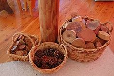 baskets of natural materials