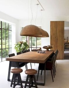 35 Spectacular Dining Table Design Ideas You Must Have - Esszimmer dekoration Dinning Table Design, Wooden Dining Tables, Modern Dinning Table, Wooden Dining Table Designs, Elegant Dining, Industrial Dining Rooms, Wood Dinning Room Table, Modern Dining Rooms, Dining Area