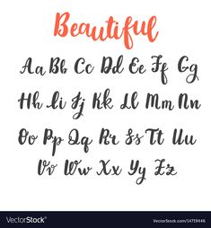 Uppercase and lowercase letters. Hand lettering royalty-free hand draw alphabet uppercase and lowercase letters calligraphy font hand lettering stock vector art & more images of typescript