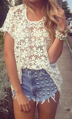 Lace and studs.#Repin By:Pinterest++ for iPad#