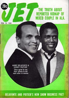 Harry Belafonte, Sidney Poitier, Jet Magazine, February Two handsome actors. Ebony Magazine Cover, Magazine Cover Page, Jet Magazine, Black Magazine, Black Art, Black History Facts, Strange History, Harry Belafonte, Essence Magazine
