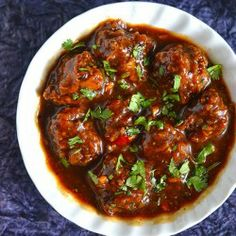 Soft, juicy, delicious, vegan and popular Indo-Chinese food - Vegetable Manchurian Gravy.