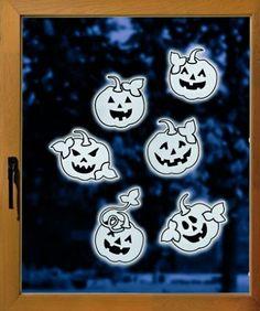 Fensterbild Kürbis Leuchtkürbis   eBay