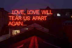 12 months of neon love- love will tear us apart again