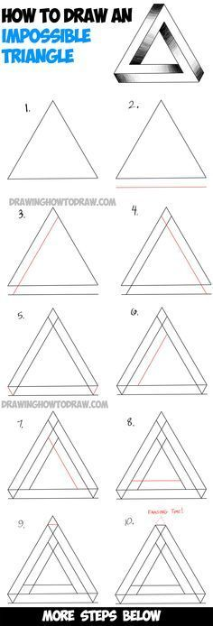 Learn How to Draw an Impossible Triangle - Simple Steps Drawing Lesson