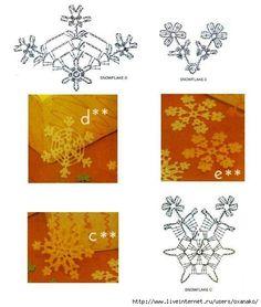 View album on Yandex. Crochet Snowflake Pattern, Crochet Stars, Crochet Snowflakes, Free Crochet, Knit Crochet, Crochet Patterns, Crochet Christmas Ornaments, Christmas Star, Christmas Crafts