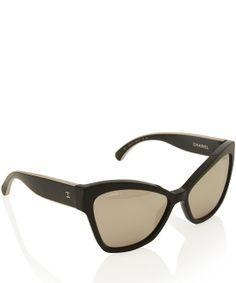 Chanel Black 5271 Cat Eye Sunglasses $490.28
