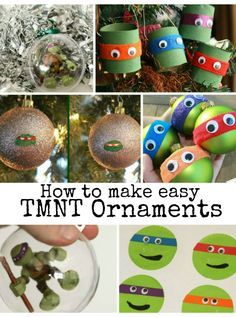 Cool and easy ways to make TMNT Christmas Ornaments for your little Teenage Mutant Ninja Turtles fan