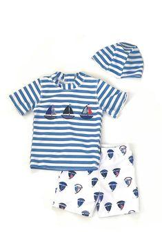 Boys sailboat swimwear
