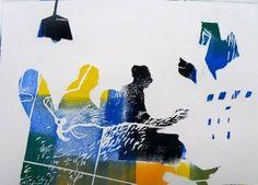 "Saatchi Art Artist Golnaz AFRAZ; Painting, ""Seul-Monotype-SOLD"" #art"