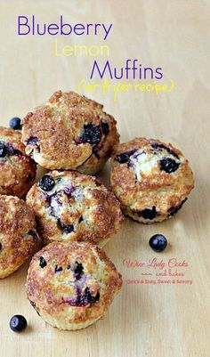Blueberry Lemon Muffins Air Fryer Recipe quickly makes 12 delicious muffins for breakfast and snacks.