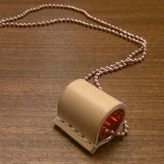 Copper and leather necklace. Dutch design. Handmade