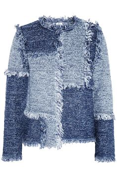 M Missoni Patchwork Denim Tweed Jacket ♥
