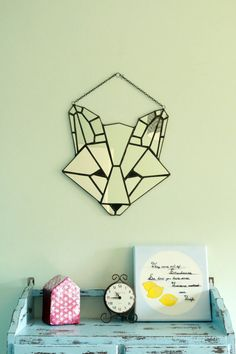 Stained glass fox mirror by RavenHaylin on Etsy