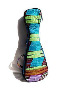 Soprano Ukulele Soft Gig Bag Backpack, foam padded, VLISCO fabrics, zipper pocket,