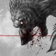 I find this kinda creepy. But, it is a really good drawing. Fantasy Creatures, Mythical Creatures, Dark Fantasy, Fantasy Art, Der Steppenwolf, Beast, Creepy, Werewolf Art, Werewolf Legend
