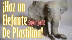 ¡Como hacer: Un espectacular elefante de plastilina/arcilla!
