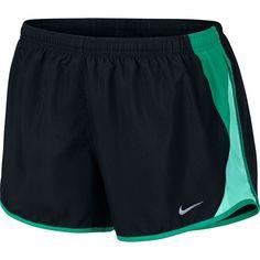 Women's Nike 10K Dri-FIT Running Shorts ($30) ❤ liked on Polyvore featuring activewear, activewear shorts, shorts, dark grey, nike sportswear, logo sportswear, nike activewear and nike