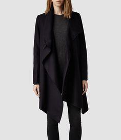 Womens City Monument Coat (Black) - product_image_alt_text_1