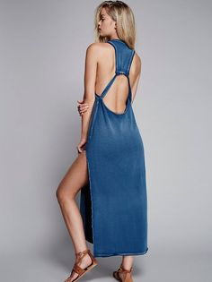Frida Aasen || FP Coconut Island Maxi Dress (Sapphire)