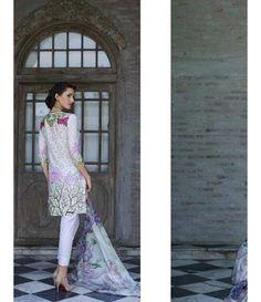 Tabassum Mughal Luxury Lawn SS'16 by Al Zohaib 9A