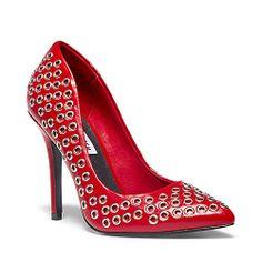 GROMMIT RED MULTI women's dress high pointy toe - Steve Madden