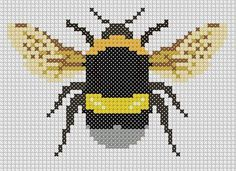 Bumble Bee Cross Stitch PDF PATTERN by ardreedesigns on Etsy