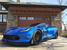Our friends at Weapon X Motorsports equipped Brad's Laguna Blue C7 Corvette Z06 with these 20