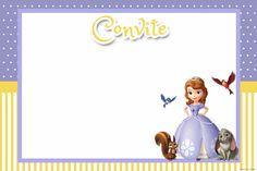 Convite da Princesa Sofia. Kit digital gratuito www.inspiresuafesta.com