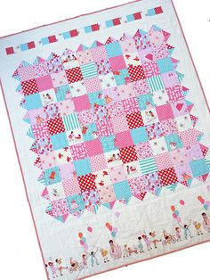 Red Pepper Quilts: Girls at Play - A Finished Quilt...This Etsy quilter  has wonderful products.
