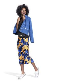 Target's New Collab Is Inspired By Fashion Bloggers #refinery29  http://www.refinery29.com/2015/10/95663/who-what-wear-target-collection#slide-15  This blue suede jacket? It's what dreams are made of.Target x WHOWHATWEAR Elbow Sleeve Linen Tee, $17.99, available at Target; Target x WHOWHATWEAR Mod Moto in Blue, $39.99, available at Targe...